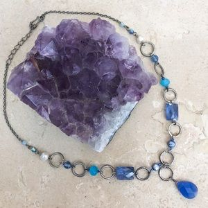 Francesca's Blue & Silver Statement Necklace